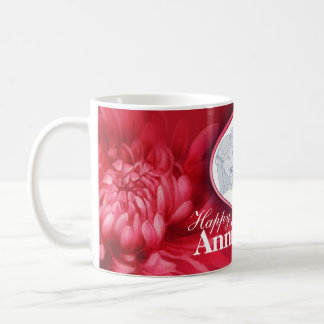 Floral 15 years anniversary your photo mug