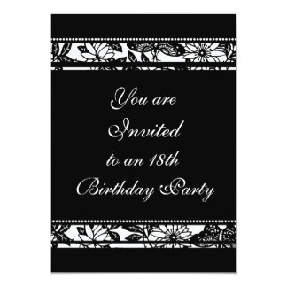 "Floral 18th Birthday Party Invitations 5"" X 7"" Invitation Card"