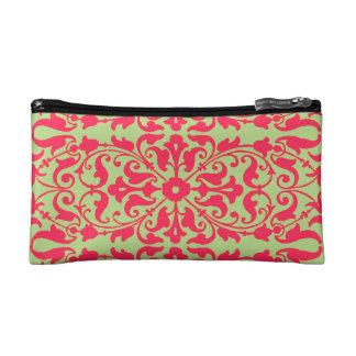 Floral 19th century printers' ornament with color makeup bag