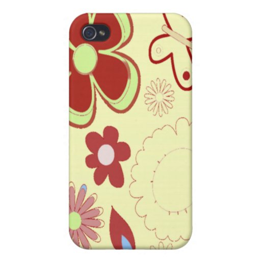 Floral 1 covers for iPhone 4