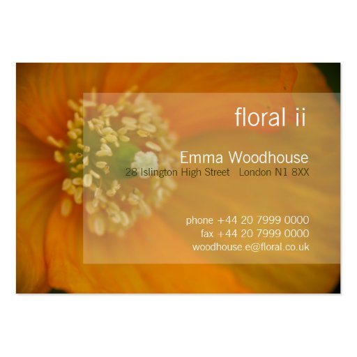 Floral 2 - Arctic Poppy Business Card