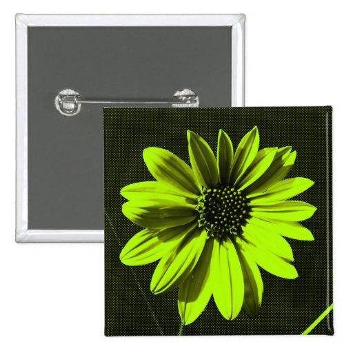 floral 2 inch square button