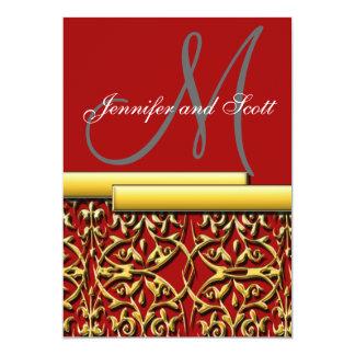 floral_2, M, Jennifer and Scott 5x7 Paper Invitation Card