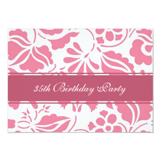 Floral 35th Birthday Party Invitations