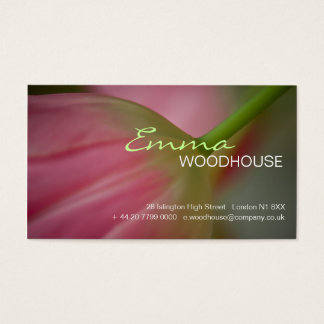 Floral 3 - Pink Tulip Business Card
