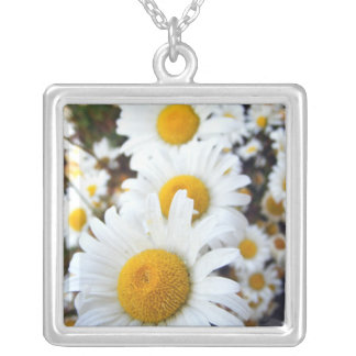 Floral #3 silver plated necklace
