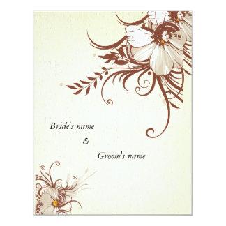 """floral 4.25"""" x 5.5"""" wedding invitation card"""