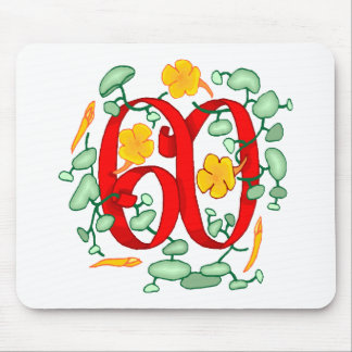 Floral 60th Birthday Gifts Mouse Pad
