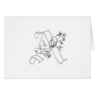 Floral A Notecard Greeting Card