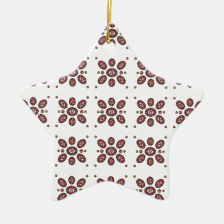 Floral Abstract Argyle Pattern Ceramic Ornament