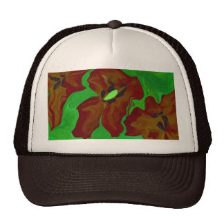 floral abstract art print trucker hat