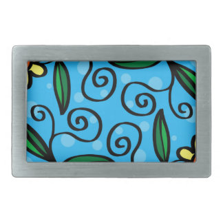 Floral Abstract Belt Buckle