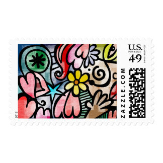 Floral Abstract Doodle Stamp