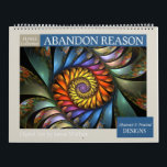 """Floral Abstract Fractal 2019 Calendar<br><div class=""""desc"""">Wall calendar featuring twelve colorful,  unique abstract fractal designs that resemble flowers,  by Susan Wallace. High quality images; suitable for framing.</div>"""