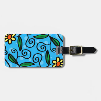 Floral Abstract Luggage Tag