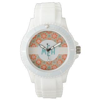 Floral Abstract Mod Custom Monogram Watch