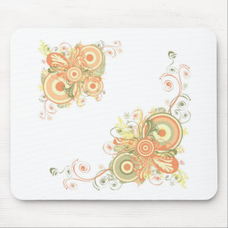 Floral Abstract Mouse Pad