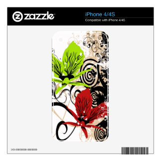 Floral Abstract Orchids Zazzle Skin Skins For iPhone 4S