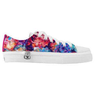 Floral Abstract Painting Low-Top Sneakers