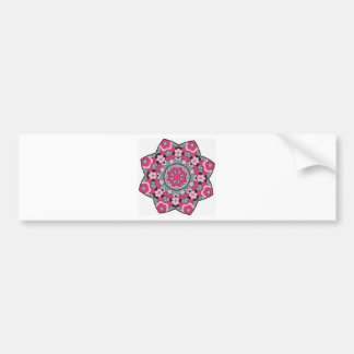 Floral Abstract Pattern Bumper Sticker