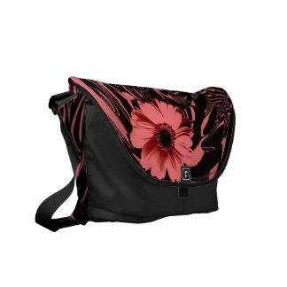 """""""Floral/Abstract"""" pink/black messenger bag"""".* Messenger Bag"""