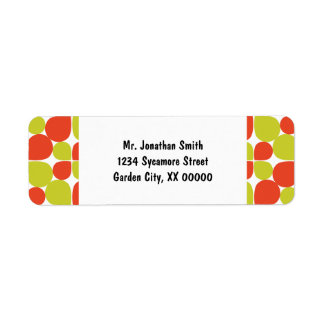 Floral Abstract Retro Pattern Labels