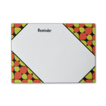 Floral Abstract Retro Pattern Post-it Notes