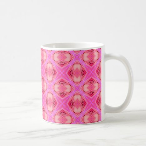 Floral Abstract Rose Modern Circle Lattice Coffee Mug