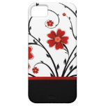floral abstract with black bar iPhone 5 cases