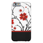 floral abstract with black bar iPhone 6 case