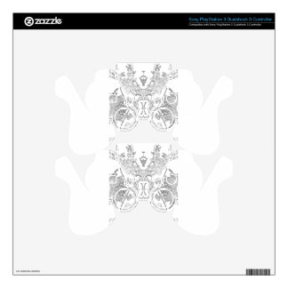 floral abstraction decal for PS3 controller