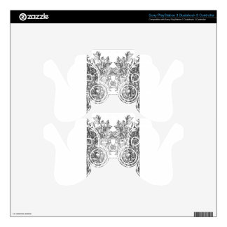 Floral abstraction PS3 controller skin