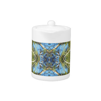 Floral abstraction teapot