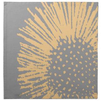 Floral abstracto amarillo y gris servilletas de papel
