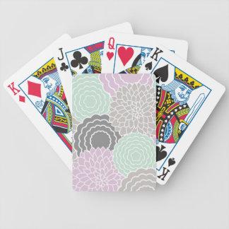 Floral abstracto barajas de cartas
