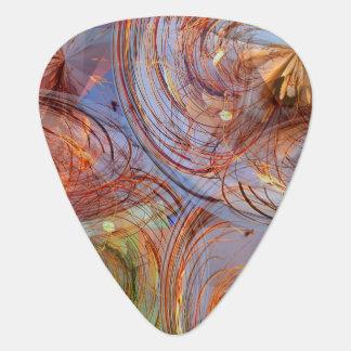 Floral abstracto bonito púa de guitarra