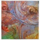 Floral abstracto bonito servilletas