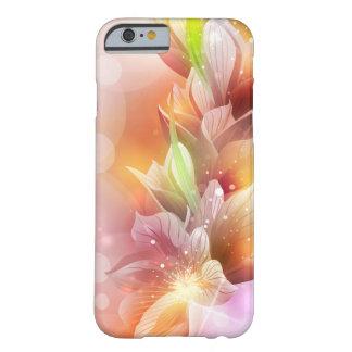 Floral abstracto brillante funda de iPhone 6 barely there