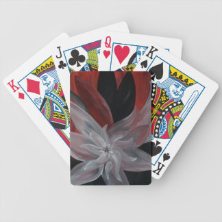 Floral abstracto baraja cartas de poker