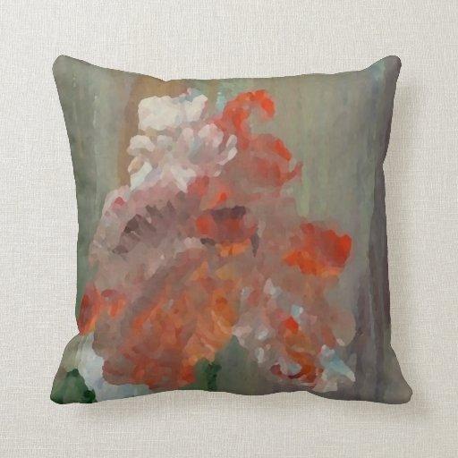 Floral abstracto impresionista de la flor exótica cojin