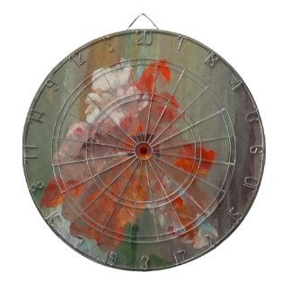 Floral abstracto impresionista de la flor exótica tabla dardos