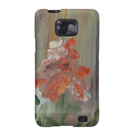 Floral abstracto impresionista de la flor exótica samsung galaxy SII carcasas