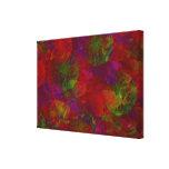 Floral abstracto lienzo envuelto para galerías