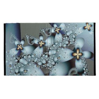 Floral abstracto lindo del oro azul