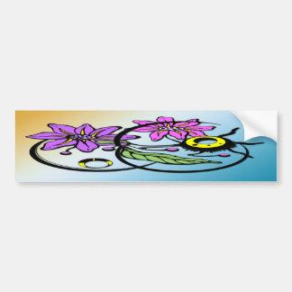 Floral abstracto - pegatina para el parachoques pú pegatina para auto