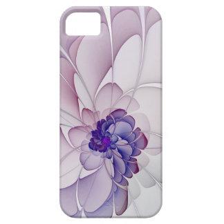 Floral abstracto púrpura de la coqueta iPhone 5 fundas