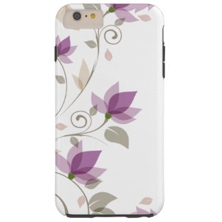 Floral abstracto púrpura de moda funda de iPhone 6 plus tough
