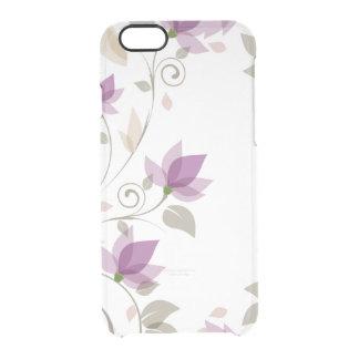 Floral abstracto púrpura de moda funda clearly™ deflector para iPhone 6 de uncommon