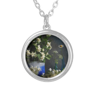 Floral Abundance Silver Plated Necklace
