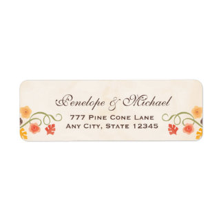Floral Acorn Fall Label